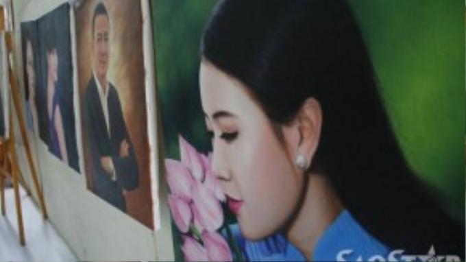 Tranh của Lê Minh Châu không chỉ được khách hàng trong nước ưa chuộng mà nhiều người ở Mỹ, Nhật, Pháp,… cũng đặt mua.