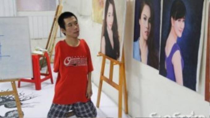 Vào năm 2006, Châu bắt đầu vẽ tranh phong cảnh, những hình ảnh sáng tạo trên bức vẽ đầu tiên được mường tượng ra từ hình ảnh thác nước chảy siết trên cao nguyên. Bức tranh đã được vẽ suốt hai ngày mới hoàn thiện và được gửi tặng cho một hội Nhật- Việt.
