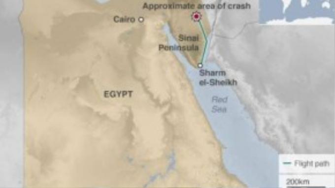 Lộ trình của chiếc máy bay xấu số mất liên lạc sau khi cất cánh 23 phút.