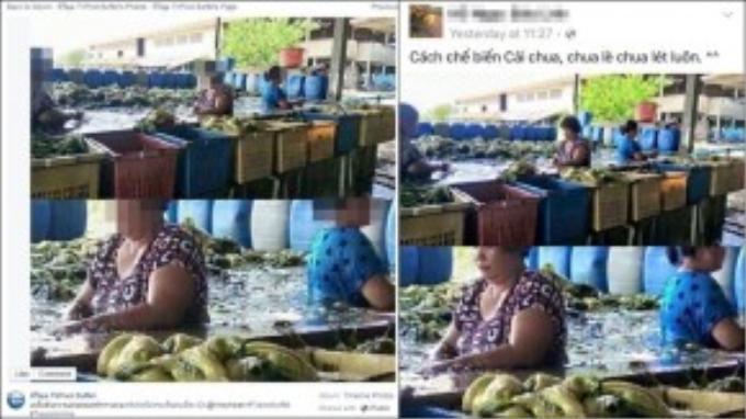 Bên trái là bức hình được đăng trên trang mạng xã hội của Thái Lan. Bên phải là những dòng trạng thái mập mờ của một cư dân mạng Việt.
