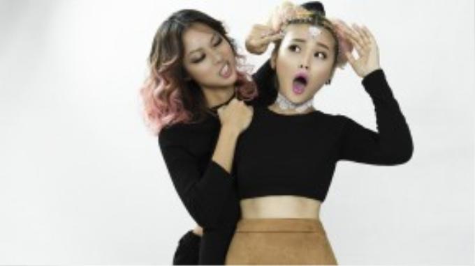 Trương Thảo Nhi có phần kết hợp thú vị cùng rapper Suboi với phong cách thể hiện hiện đại, sống động.