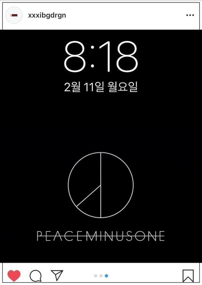 Hình ảnh trên trang Instagram của G-Dragon.