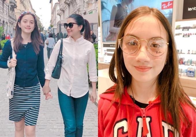 Giulia (sinh năm 2006) là con gái đầu lòng của diễn viênKim Ngânphim 'Người đàn bà yếu đuối'. Ở tuổi 13, cô bé đã cao hơn mẹ và cógương mặt lai Tây cuốn hút.