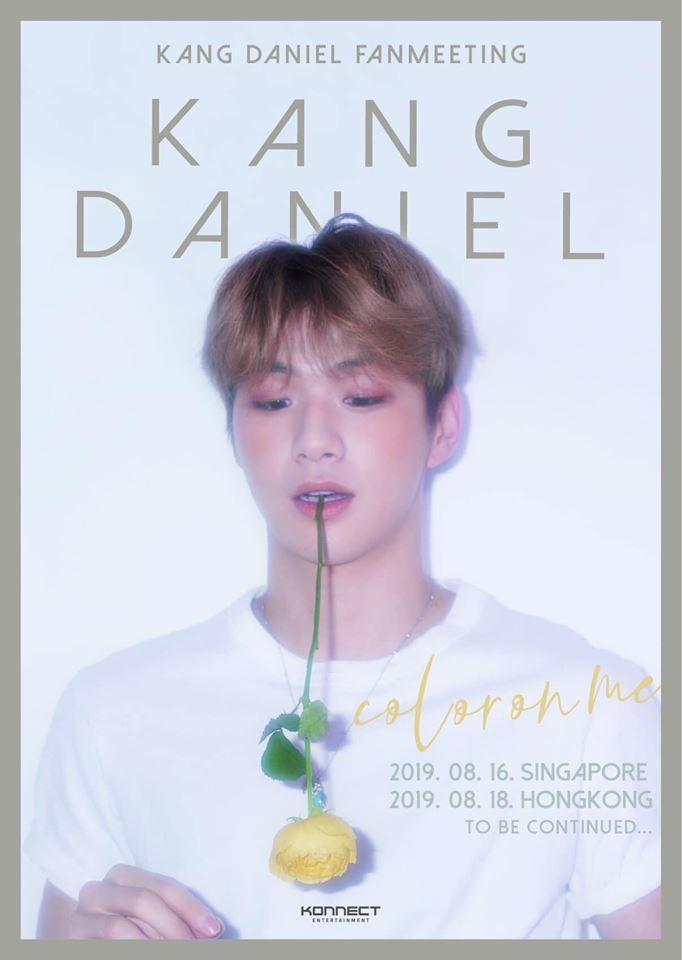 Poster fanmeeting của Kang Daniel.
