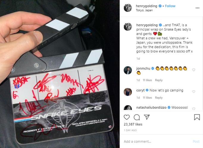 Tấm ảnh được đăng tải trên trang cá nhân của nam diễn viên Henry