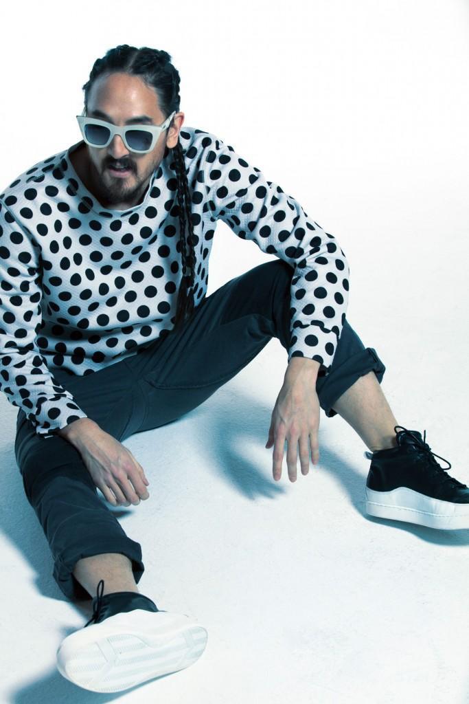 """Không chỉ """"làm loạn"""" trong thế giới âm nhạc mà Steve Aoki còn là người sở hữu gu thời trang riêng biệt."""