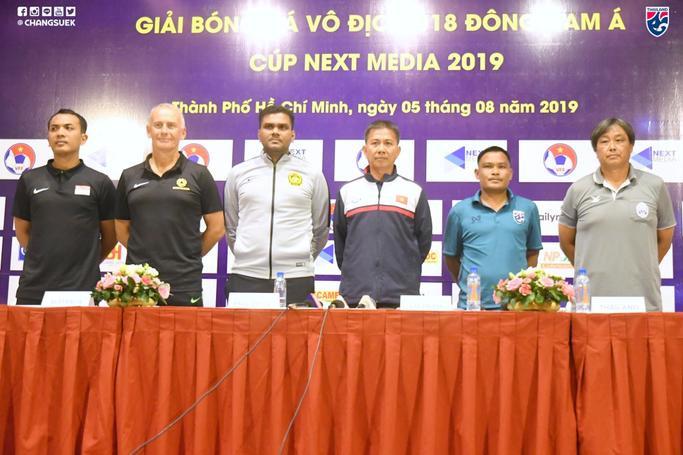 Buổi họp báo trước giải U18 Đông Nam Á.