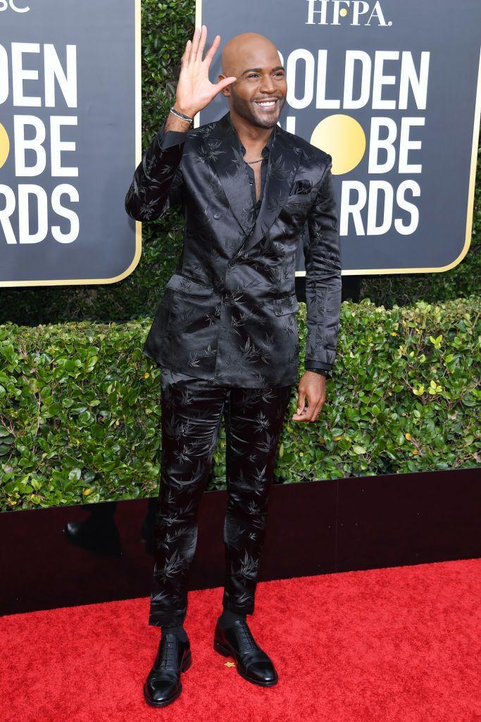 Chỉ cần thay đổi chất liệu vest, Karamo Brown đã mang tới sự mới mẻ cho thảm đỏ.