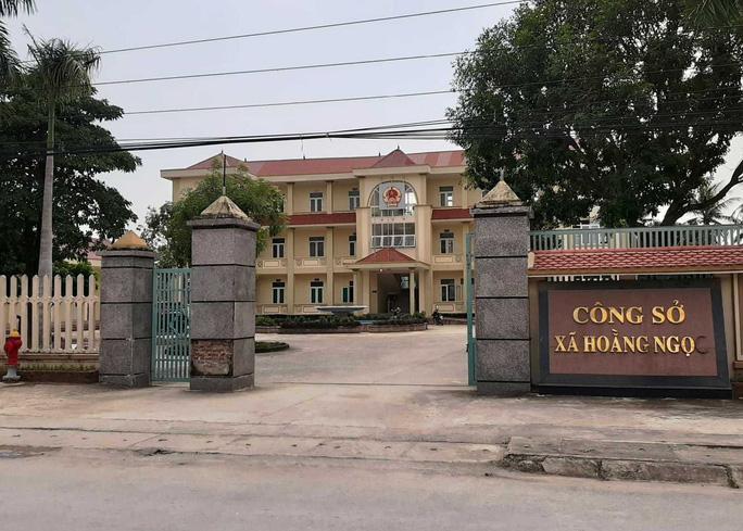 Công sở xã Hoằng Ngọc – nơi bà Vũ Thị Hòa đang công tác. Ảnh: Báo Người Lao Động