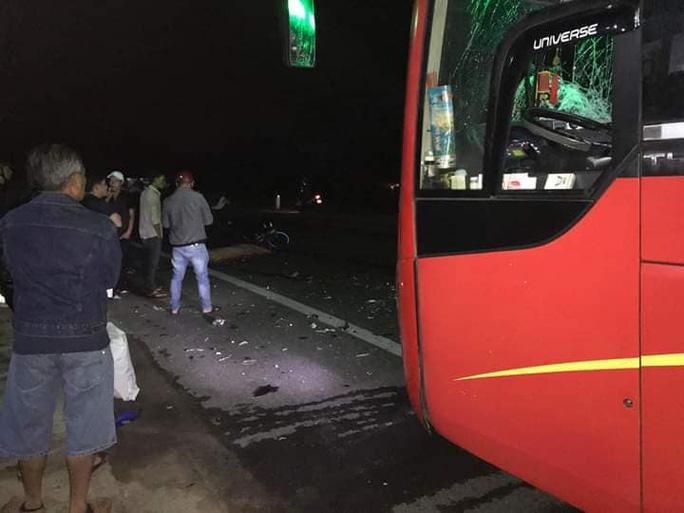 Hiện trường vụ tai nạn giao thông kinh hoàng khiến 3 thanh niên đi xe máy tử vong. Ảnh: B.N/Báo Người Lao Động