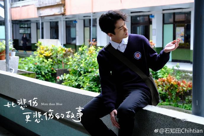 """Chí Điền trong bộ phim""""Chỉ cần em hạnh phúc"""" (More Than Blue)."""