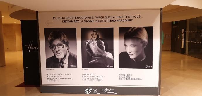 Hình ảnh Phạm Băng Băng được đặt giữa, bên cạnh hai nhân vật đình đám khác làCate Blanchett và Amitabh Bachchan