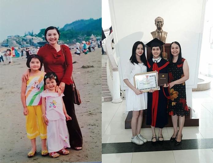 Bức ảnh của Minh Tâm, mẹ và chị gái (Ảnh: NVCC)