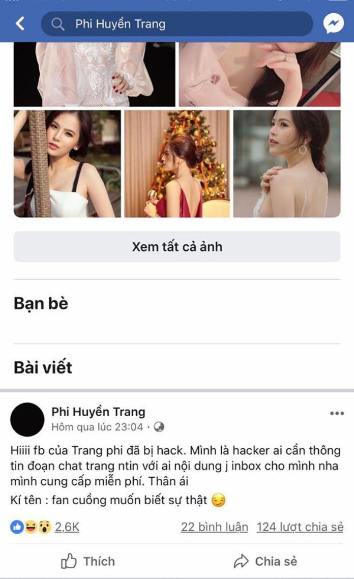 Dòng status lạ xuất hiện trên facebook của hotgirl mì gõ.