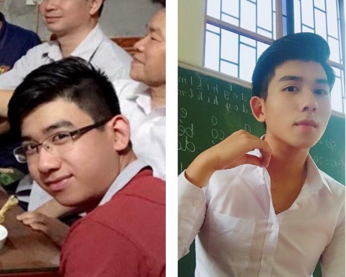 Hình ảnh trước và sau khi giảm cân của anh chàng 10x.