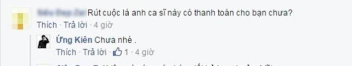 Theo lời Ứng Duy Kiên, Phan Mạnh Quỳnh vẫn chưa hề trả tiền quay MV.