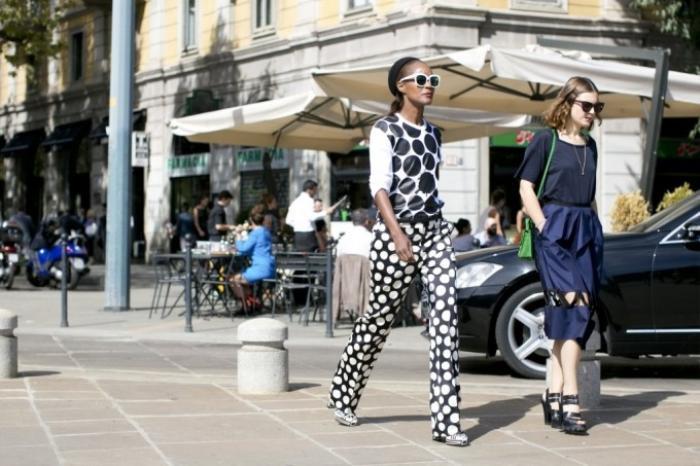 Một fashionista nổi bật trên đường phố Paris thời gian qua.