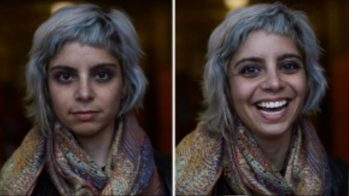 Cô bạn cá tính này lại có phản ứng khá thoải mái khi được khen ngợi vẻ đẹp của mình.