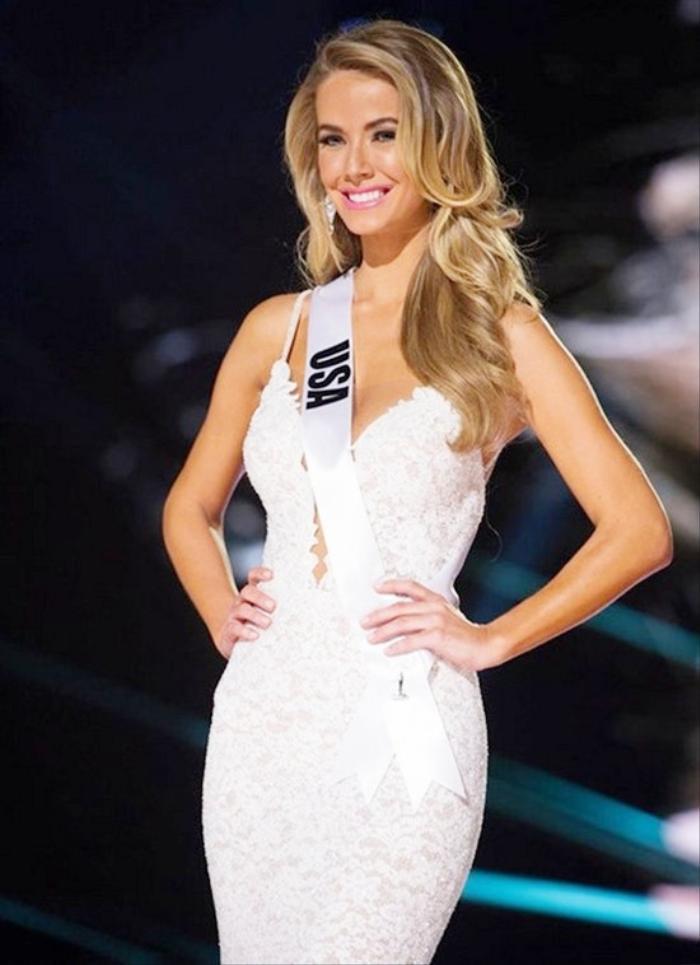 Người đẹp Mỹ bị vạ lây vì màn ăn mừng đại diện Philippines.