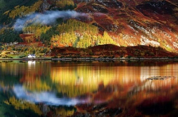 Mùa thu ở vùng nông thôn Scotland không quá rực rỡ nhưng vẫn khiến du khách say lòng.