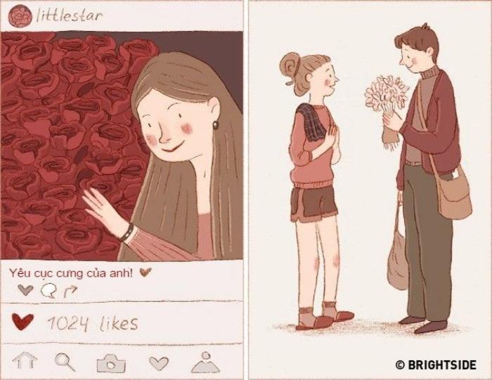 Đối với những cặp yêu nhau thực sự, một bó hoa dại đôi khi còn ý nghĩa hơn cả nghìn bông hồng. Họ cũng không muốn phô trương tình cảm trên mạng xã hội mà chỉ âm thầm nuôi dưỡng tình cảm từ những điều nhỏ nhất.