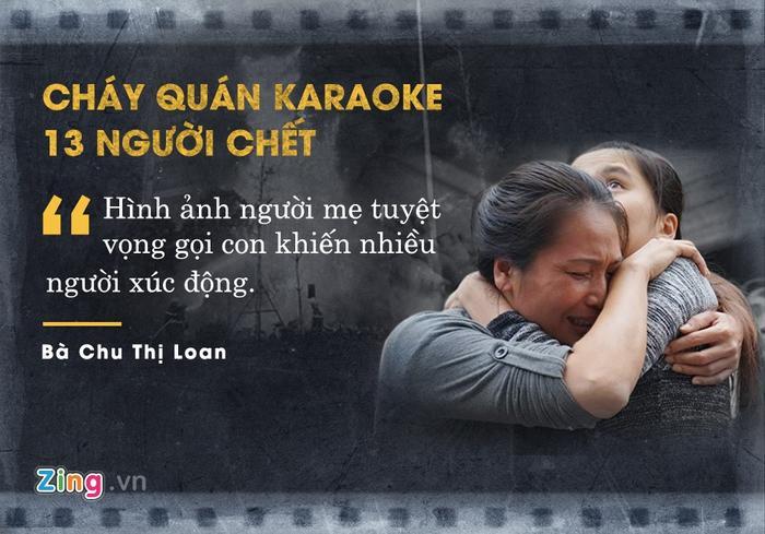 Giữa đám đông hỗn loạn bao quanh 4 căn nhà đang cháy ngùn ngụt, bà Chu Thị Loan gào khóc, tuyệt vọng gọi tên người con trai đang mắc kẹt bên trong. Con trai bà Loan là một trong 13 nạn nhân tử vong tại đám cháy quán karaoke trên đường Trần Thái Tông (Hà Nội) vào đầu tháng 11 vừa qua.