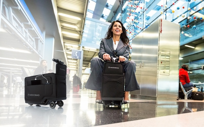 Carry-on Suitcase That Gets On-The-Go Travelers, Students and Busy Professionals to Their Destination Three Times Faster Than Walking Launches Indiegogo Campaign Today (PRNewsFoto/Modobag)