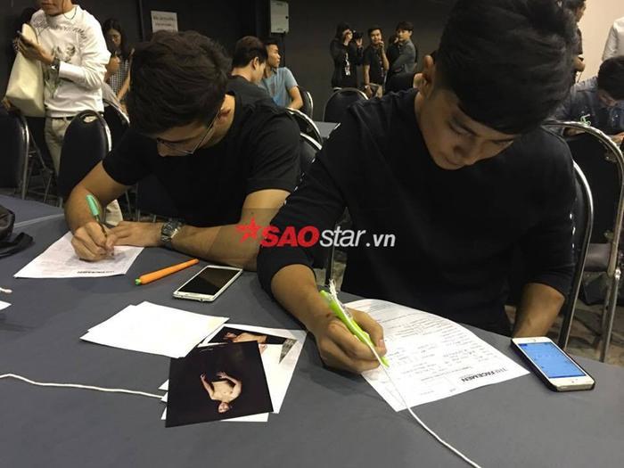 The Face Men Thailand không giới hạn quốc tịch nên dễ thấy nhiều gương mặt Tây xuất hiện tại buổi casting lần này.
