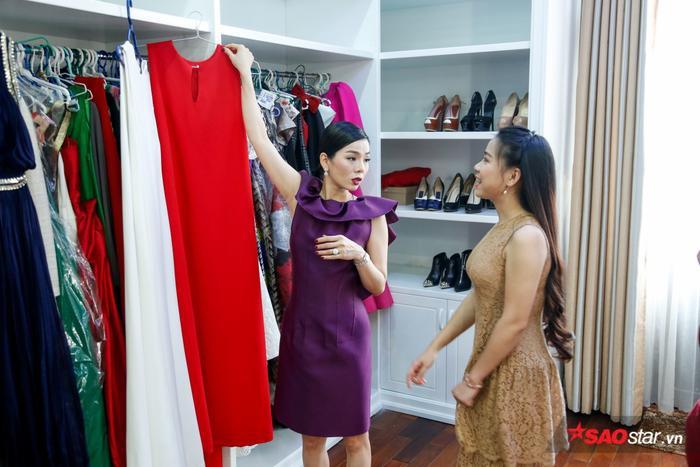 Cặp thí sinh Lê Mai – Hải Yến được nữ HLV tư vấn trang phục có màu sắc đối lập nhau