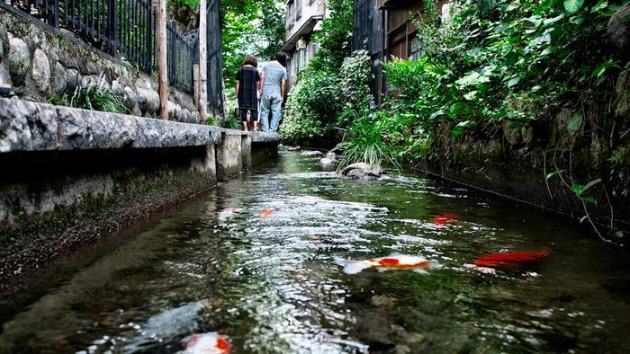 Mỗi góc đường ở Gujo Hachiman đều đem lại cảm giác bình yên đến lạ thường.