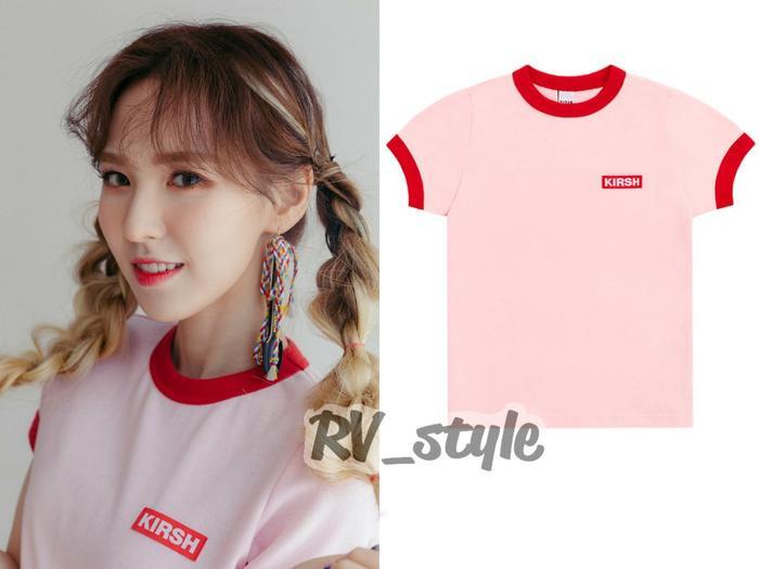 """T -shirt Kirsh với giá ₩33,150 khoảng gần 700 ngàn đồng cho những cô nàng muốn """"join team"""" màu hồng."""