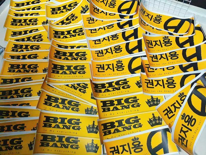 Banner BigBang's 11th anniversary và G-Dragon's 30th Birthdaytại buổi offline.