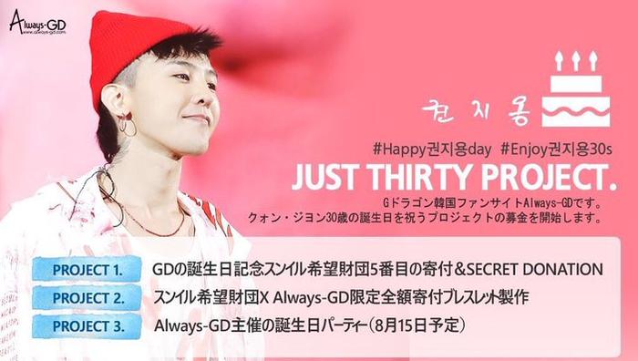Always-GD – Fansite lớn nhất của G-Dragon và kế hoạch kỉ niệm sinh nhật thứ 30 của anh chàng.