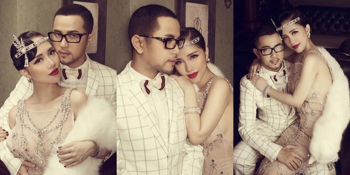 Sau hôn lễ, Thế Bảo tiết lộ bộ ảnh cưới ngọt ngào, sang trọng. Chú rể diện bộ vest màu trắng lịch lãm cạnh dâu xinh đẹp, tinh khôi.