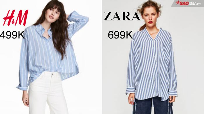 Cho những ngày nắng gắt thế này thì bộ đôi phối màu ăn ý – trắng và xanh là ưu tiên hàng đầu khi phối đồ theo phong cách mùa hè. Khác với các tông thường thấy, sắc xanh kẹo ngọt và tươi mát này đem lại cho các quý cô vẻ sang trọng, đẳng cấp và vô cùng nổi bật. Với mức giá chênh lệch hẳn 200 nghìn đồng, Zara đem đến một ánh nhìn khác sáng tạo hơn mẫu mã tối giản của H&M.