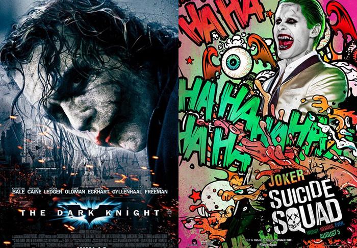 """Tạo hình nhân vật Joker trong """"The Dark Knight"""" và """"Suicide Squad""""."""