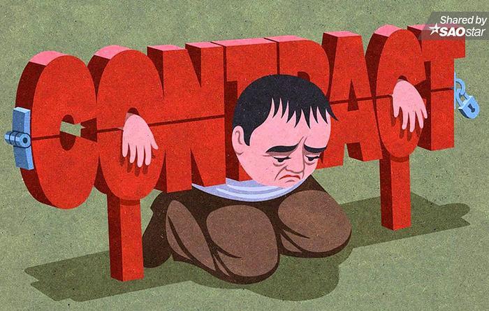 Con người dần bị giam trong những bản hợp đồng