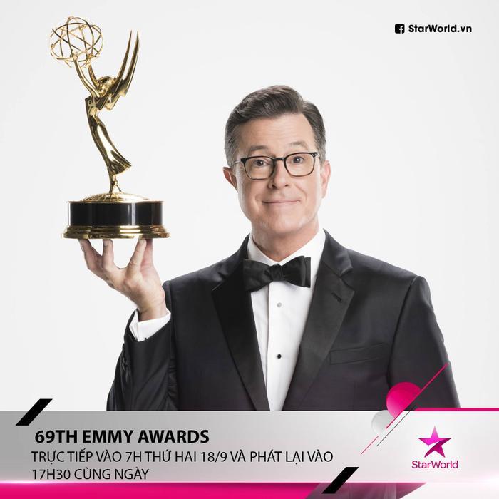 """Stephen Colbert sẽ """"chủ xị"""" lễ trao giải Primetime Emmy Awards lần thứ 69."""
