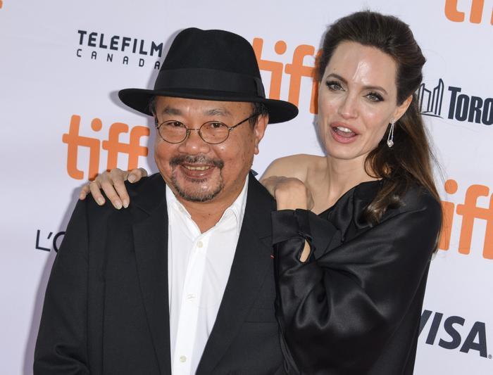 Angelina Jolie và Rithy Panh.