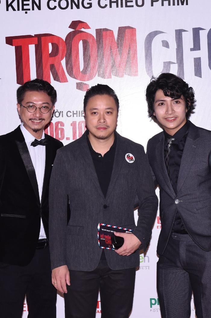 Hứa Minh Đạt, đạo diễn Victor Vũ và Ngụy Minh Khang.
