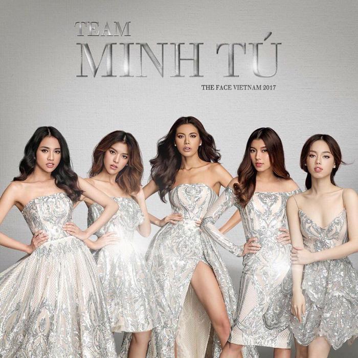Team Minh Tú trong The Face 2017.