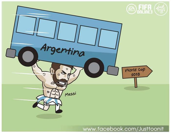 Chiếc xe rệu rã Argentina được Messi vác trên vai chạy băng băng về đích.