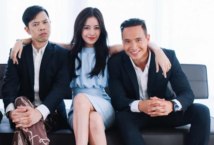 Chi Pu cùng Kim Lý và Thái Hòa.