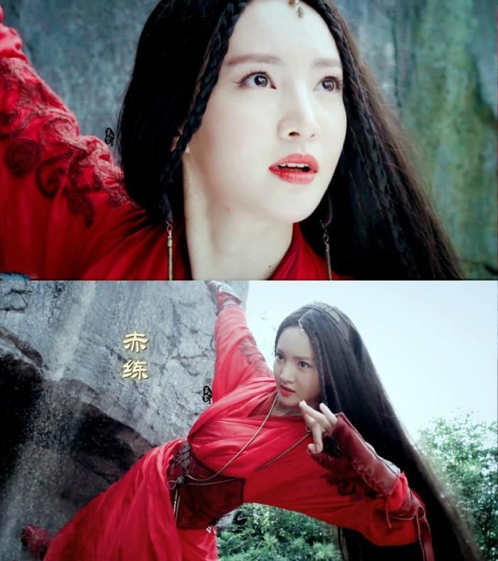 Xích Luyện đẹp ma mị trong bộ trang phục màu đỏ
