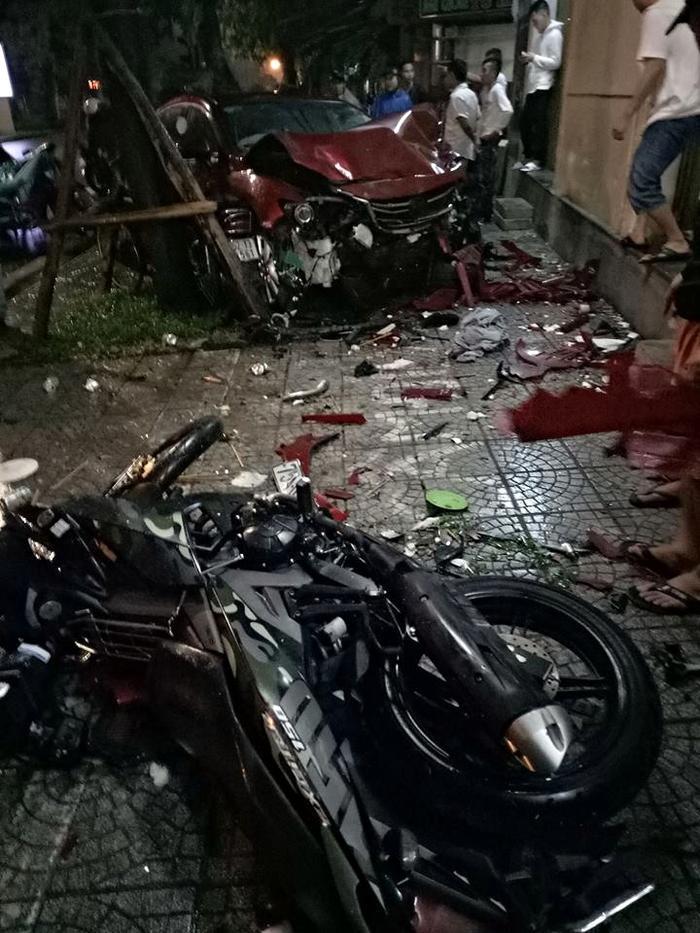 Hiện trường nơi xảy ra vụ tai nạn. Ảnh: Minh Đức