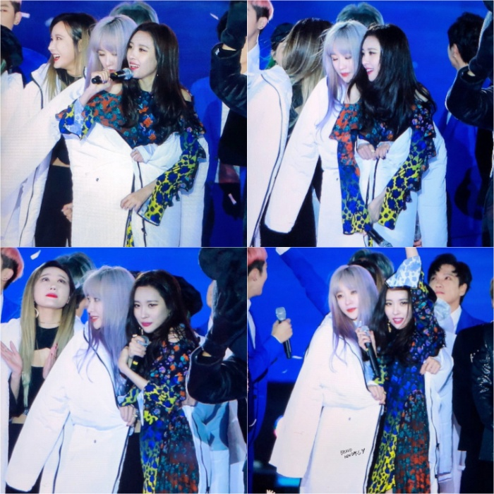 Fan tan chảy trước khoảnh khắc áo khoác chia đôi của 2 nữ thần Hani (EXID) và Sunmi ảnh 0