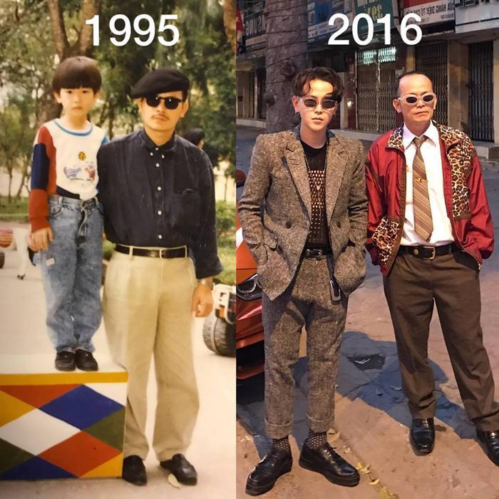 Và có lẽ, niềm yêu thích thời trang của Decao đến từ bố của mình