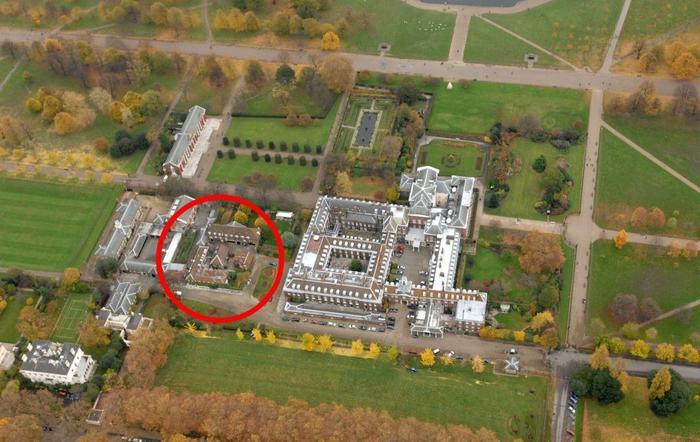 Đây là nơi có diện tích nhỏ nhất trong khuôn viên Hoàng gia Anh.