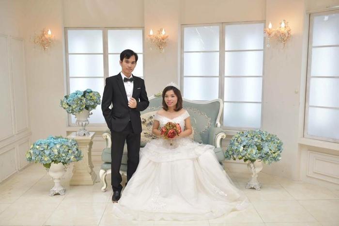 Vợ chồng anh Trung và chị Tâm.