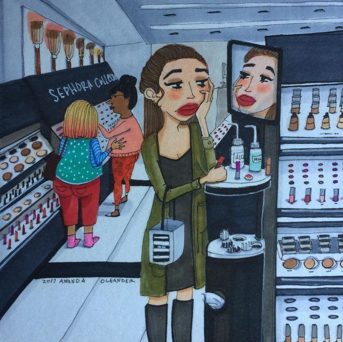 Đối với con gái, đi siêu thị và mua đủ thứ đồ làm đẹp cho mình cũng là một dạng hạnh phúc.